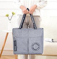 Водоотталкивающая сумка для путешествий непромокаемая H.K.Storage серая