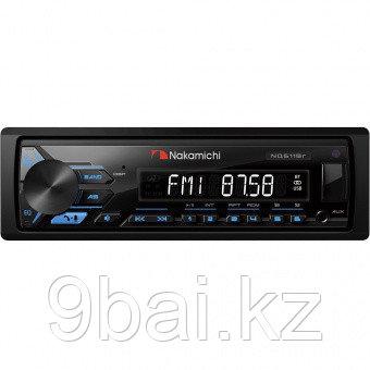 Nakamichi NQ611BR/ 1 din медиа-ресивер, USB, AUX, ВТ, 4*50 Вт, съемная панель, син./