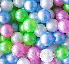 Шары для сухого бассейна - металлик Зеленый, малиновый, голубой