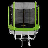Батут ARLAND 8 ft inside с внутренней страховочной сеткой и лестницей (Light green)