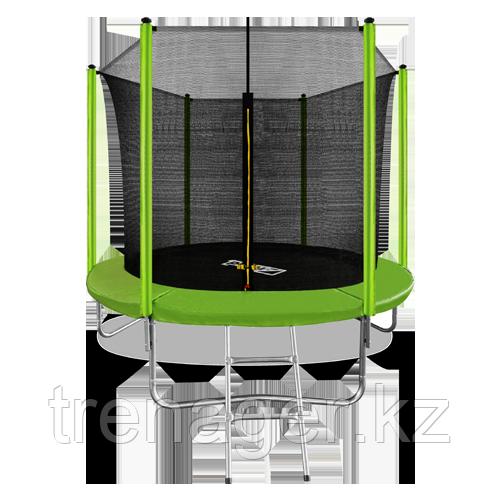 Батут ARLAND 8 ft inside с внутренней страховочной сеткой и лестницей (Light green) - фото 1