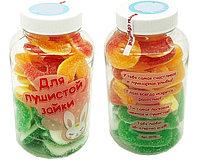 """Набор сладостей подарочный """"Для пушистой зайки""""  (пл. банка)  250 мл."""