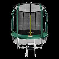 Батут ARLAND Premium 8 ft inside с внутренней страховочной сеткой и лестницей (Dark green)