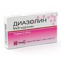 Диазолин 100 мг №10 табл