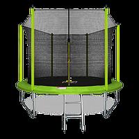 Батут ARLAND 10 ft inside с внутренней страховочной сеткой и лестницей (Light green)