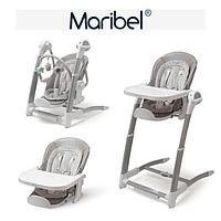 Стульчик для кормления Maribel 3в1 SG116 серый