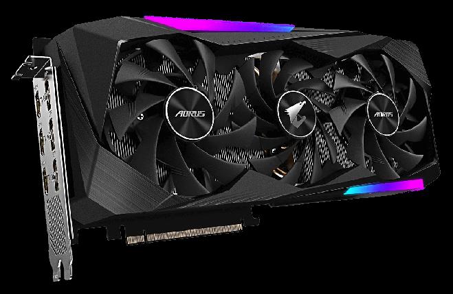 Видеокарта GIGABYTE AORUS GeForce RTX 3060 Ti  8G, фото 2