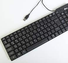 Клавиатура проводная Ritmix RKB-100 черный