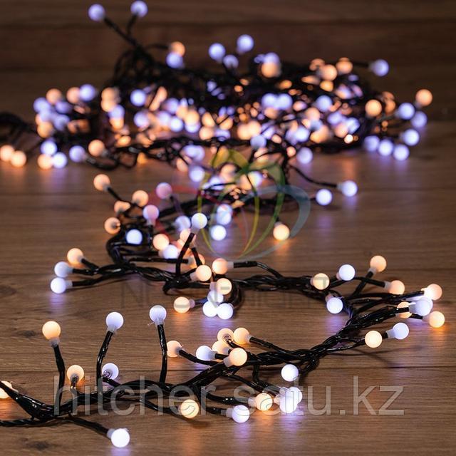 """Световая гирлянда """"Мишура LED"""" - 3 метра, 288 LED лампочек, белый +теплый-белый свет, свечение с динамикой"""