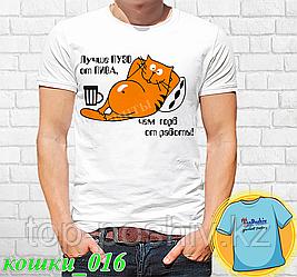 """Футболка с принтом """"Кошки - 16"""""""