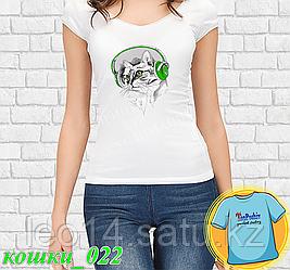 """Футболка с принтом """"Кошки - 22"""""""