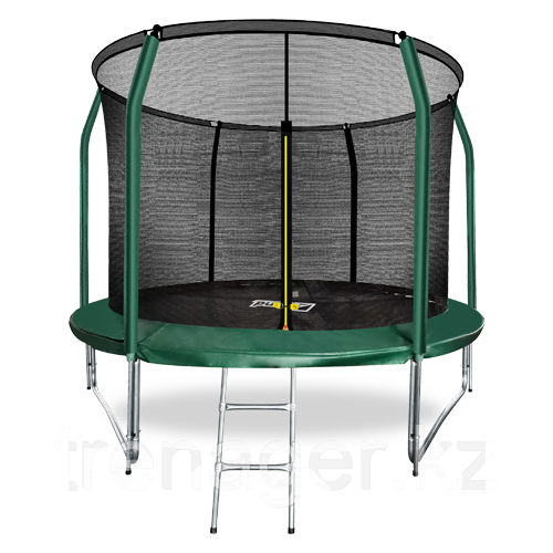 Батут ARLAND Premium 10 ft inside с внутренней страховочной сеткой и лестницей (Dark green) - фото 1