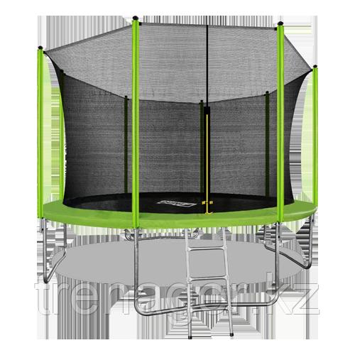 Батут ARLAND 12 ft inside с внутренней страховочной сеткой и лестницей (Light green) - фото 1