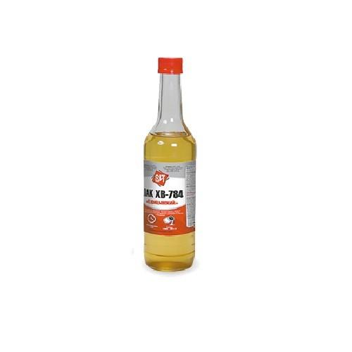 Лак ХВ-784 (бесцветный, сосна, красное дерево, махагон, янтарь, клен, мокко в стеклянных бутылках) 0,5 л