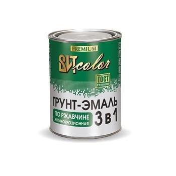 Витколор Грунт-эмаль по ржавчине 3 в 1 бела, желтая, красная, черная, серая, зеленая по 1,8кг