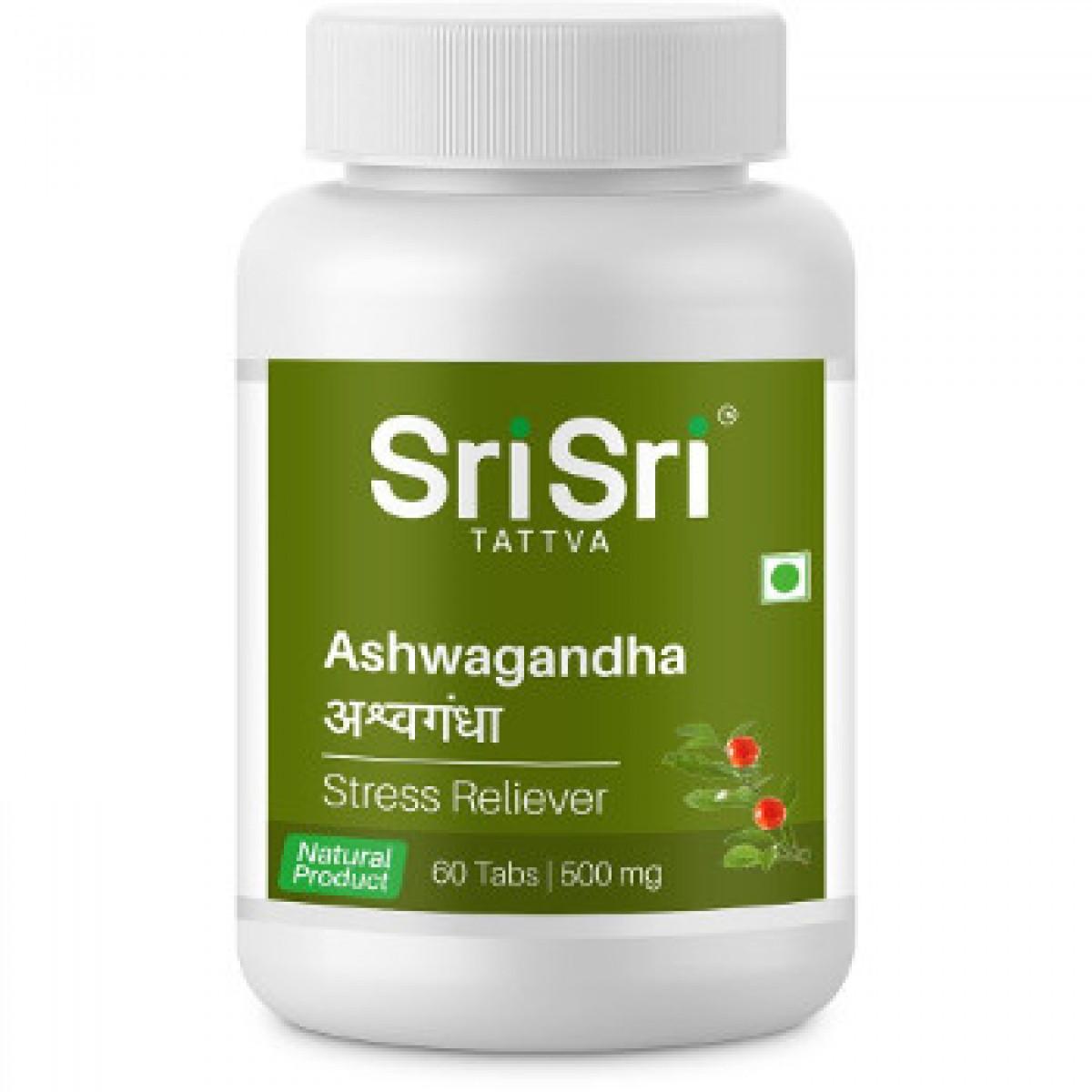 Ашваганда 60 таблеток, Sri Sri Tattva, наделяет организм физической и умственной силой,