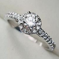 Золотое кольцо с бриллиантами 0,60Сt VS2/J EX-Cut, фото 1