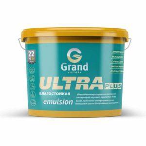 Латексно-акрилатная полуматовая краска для внутренних работ ULTRA PLUS 1.2кг