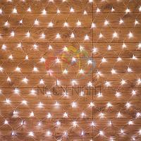 """Световая гирлянда """"Сеть"""" - 1,5х1,5 метра, 150 лампочек, белый цвет, мерцающая"""