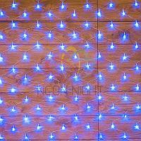 "Световая гирлянда ""Сеть"" - 1,5х1,5 метра, 150 лампочек, синий цвет, мерцающая"