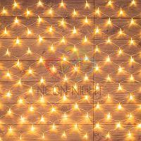 """Световая гирлянда """"Сеть"""" - 1,8х1,5 метра, 180 лампочек, теплый- белый цвет, мерцающая"""