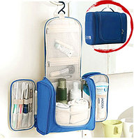 Органайзер для хранения косметики и аксессуаров складной подвесной Wosh bag синий