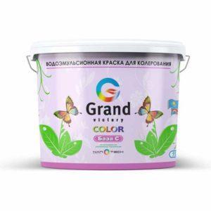 Водоэмульсионная краска для колерование «GRAND VICTORY» Моющаяся W3 База С 19кг