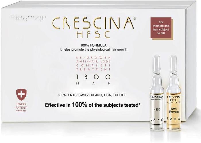 Набор по уходу за волосами Crescina 1300 Комплекс Man Re-Growth HFSC 3,5 мл фл. №20 + Anti-Hair Loss HSSC 3,5