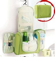 Органайзер для хранения косметики и аксессуаров складной подвесной Wosh bag зеленый