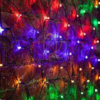 "Универсальная гирлянда ""Сеть"" - 1х1,5 метра, 160 лампочек, разноцветная, мерцающая"