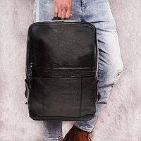 Городской рюкзак кожаный 1006 черный