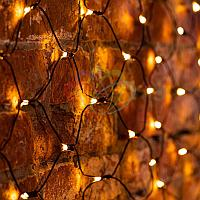 """Универсальная гирлянда """"Сеть"""" - 1х1,5 метра, 160 лампочек, теплый-белый свет, мерцающая"""