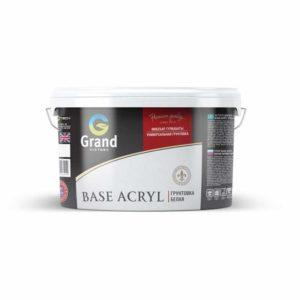 Грунтовка белая ACRYL BASE Пигментированная белая грунтовка для наружных и внутренних работ 7кг