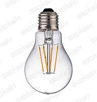 Лампа светодиодная нитевидная прозрачная груша А60 11 Вт 4000 К Е27 Фарлайт