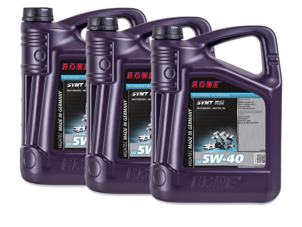 Масло моторное ROWE HIGHTEC SYNT RSi SAE 5W-40, 15 литров (3 x 5L)