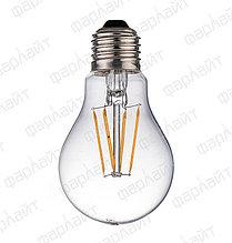 Лампа светодиодная нитевидная прозрачная груша А60 9 Вт 4000 К Е27 Фарлайт