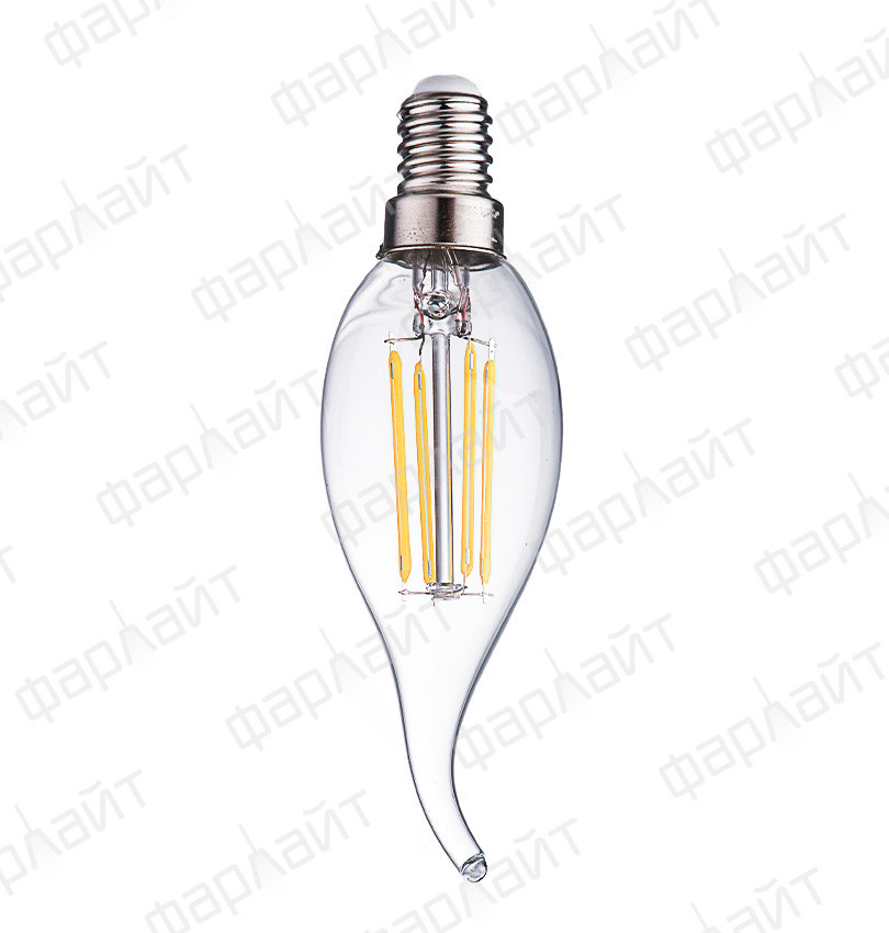 Лампа светодиодная нитевидная прозрачная свеча на ветру СW35 7 Вт 2700 К Е14 Фарлайт