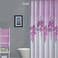 Водонепроницаемая тканевая шторка для ванной Tropik полиэстер 180x200 см BS7359