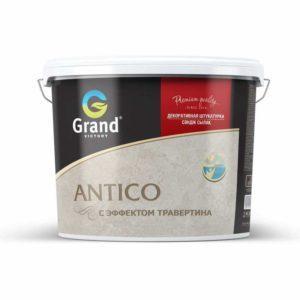 Декоративная мелкозернистая штукатурка с эффектом травертина ANTICO  белый  15кг