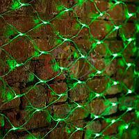 """Универсальная гирлянда """"Сеть"""" - 2х1,5 метра, 288 лампочек, зеленый цвет, мерцающая"""