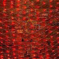 "Универсальная гирлянда ""Сеть"" - 2х1,5 метра, 288 лампочек, красный цвет, мерцающая"