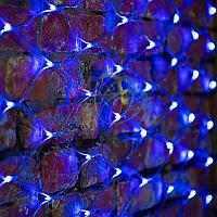 """Универсальная гирлянда """"Сеть"""" - 2х1,5 метра, 288 лампочек, синий цвет, мерцающая"""