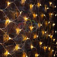 """Универсальная гирлянда """"Сеть"""" - 2х1,5 метра, 288 лампочек, теплый-белый цвет, мерцающая"""