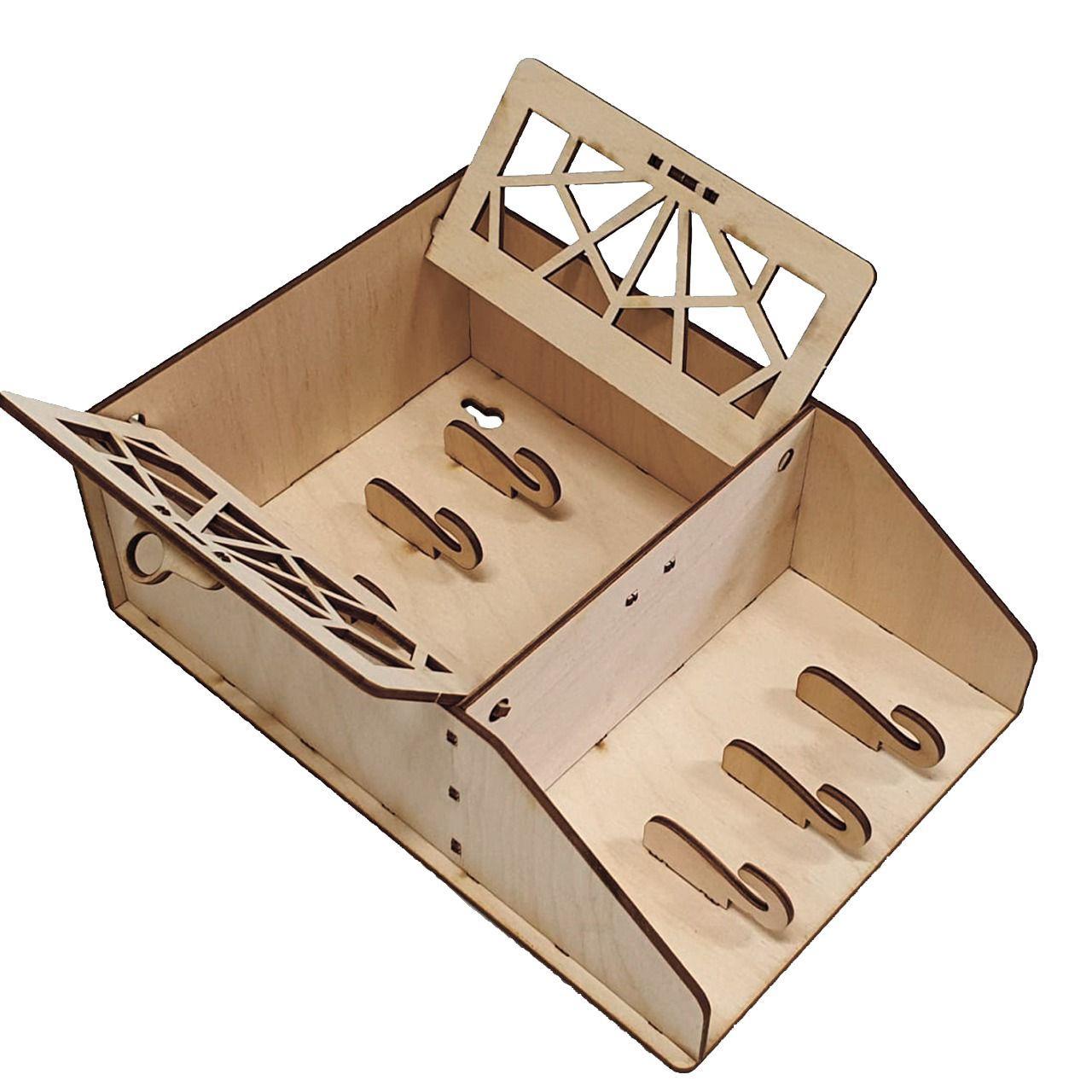Ключница с дверками из дерева для хранения ключей подарки для друзей - фото 2