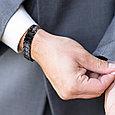 Титановый магнитный браслет Премиум Топ Люксор black, фото 7