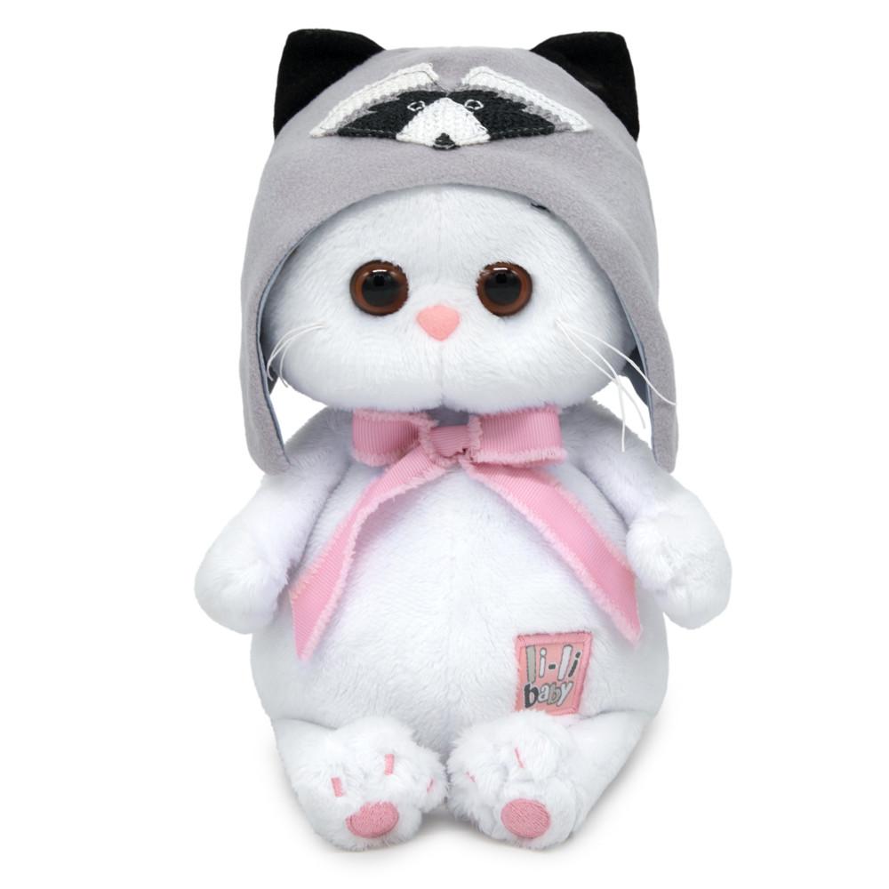 Мягкая игрушка Кошечка Ли-Ли Baby в шапочке Енот, 20 см