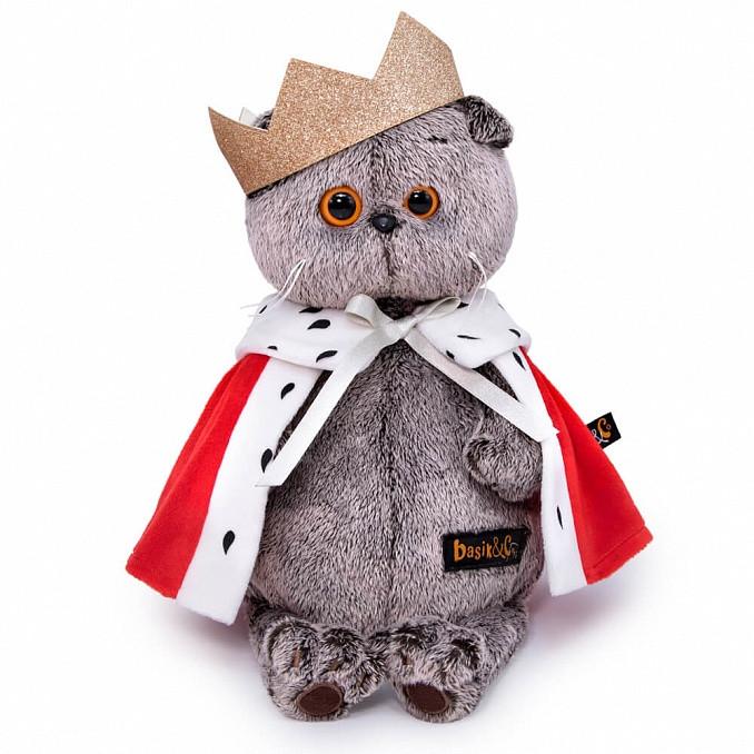 Мягкая игрушка Кот Басик Царь, 25 см