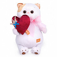 Мягкая игрушка Кошечка Ли-Ли с сердцем, 24 см