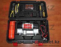 Компрессор автомобильный 202H, 2 поршня, 10 атм., 70л/мин, инструменты, чемодан, фото 1