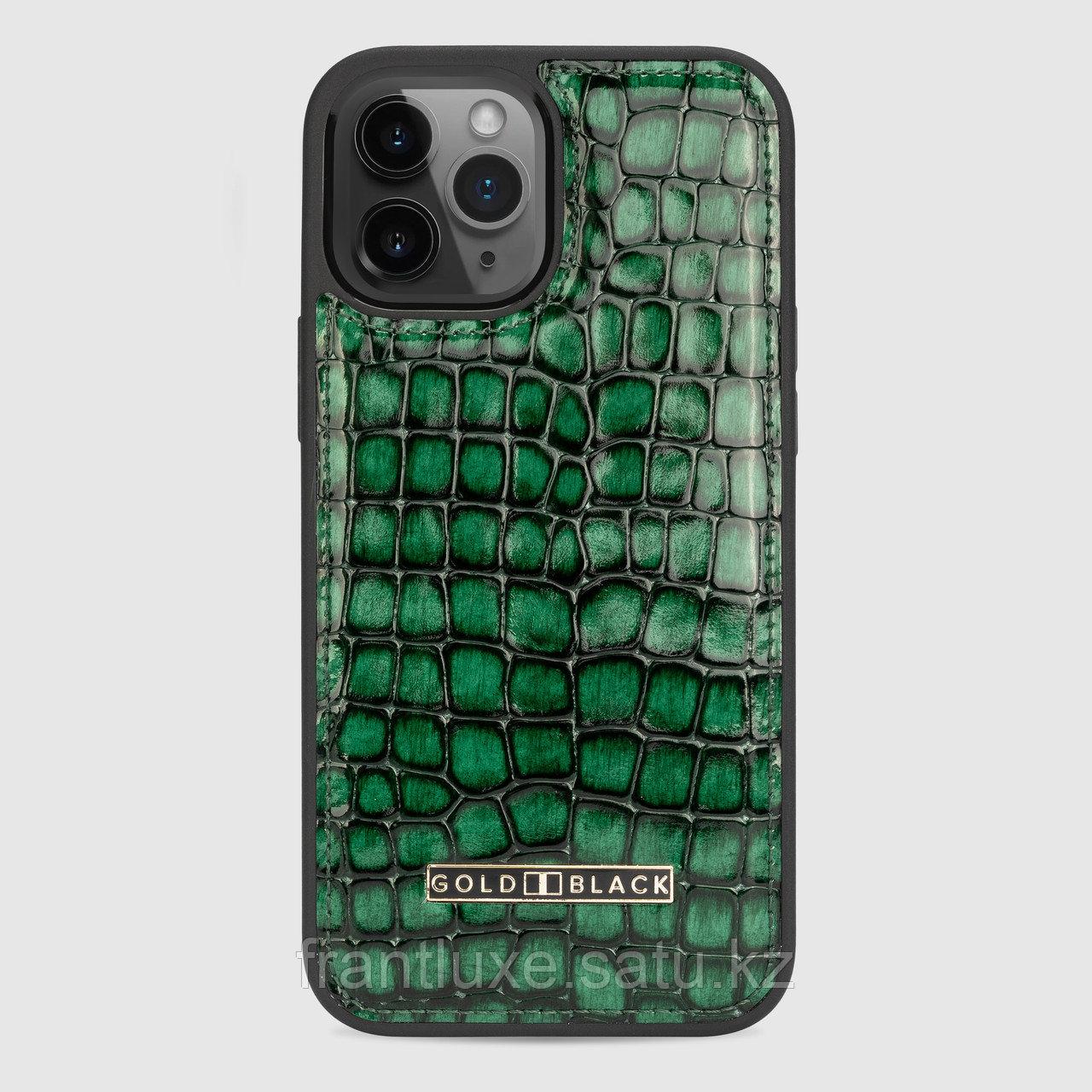 Чехол для телефона iPhone 12 Pro Max зелёный - фото 1
